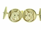 German Shepherd C503Y Head/Disc Cognac D Eyes & Cuff Link