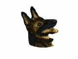 German Shepherd C539Y Head/Rhodium