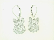 German Shepherd Head ER502 LBD Earring