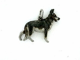 German Shepherd P041/Rhodium (platinum)