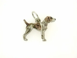German Shorthaired Pointer C336W/Rhodium Color (WG)