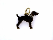 German Shorthaired Pointer C336Y/Rhodium Color & 6-White D. Collar