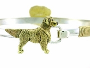 Golden Retriever C252Y/Rhodium E&n on silver uff Bracelet & Gold Fill Wire