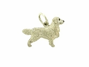 Golden Retriever C310W/Rhodium E&N (WG)