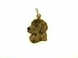 Golden Retriever C483R Head/Rhodium Color