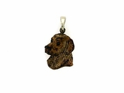 Golden Retriever C483Y Head/Rhodium Color