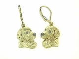 Golden Retriever Head C483Y/Rhodium E&N LBD Earring