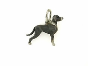 Great Dane C270W Uncropped Ears/Rhodium Black & 7-White D Collar (WG)