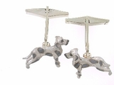 Great Dane C270W Uncropped Ears/Rhodium & Cuff Link (WG)