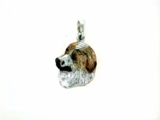 Great Pyrenees C573W Head Rhodium Color