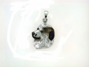 Great Pyrenees C573W Head Rhodium Black & White