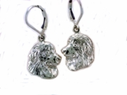 Great Pyrenees Head ER573 LBD Earring