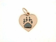Heart Paw C161BR Tag/Rhodium Black (RG)