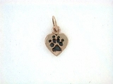 Heart Paw C161CR Tag/Rhodium Black (RG)