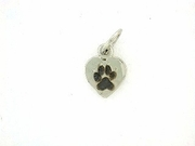 Heart Paw C161CW Tag/Rhodium Black (WG)