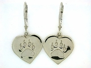 Heart Paw ER161B Tag Lever Back Earring