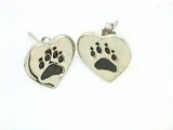 Heart Paw ER161BW Tag/Rhodium Ball Drop Earring (WG)