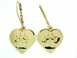 Heart Paw ER161BY Tag Lever Back Earring