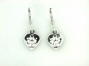 Heart Paw ER161C Tag Lever Back Earring