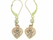 Heart Paw ER161CR Tag/2-DS Lever Back Earring