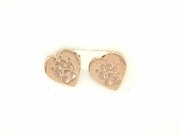 Heart Paw ER161CR Tag Post Earring (RG)