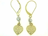 Heart Paw ER161CY Tag/2-DS Lever Back Earring