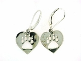 Heart Paw ER514B Open Lever Back Earring