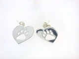 Heart Paw ER514B Open Post Earring