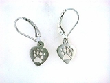 Heart Paw ER514C Open Lever Back Earring