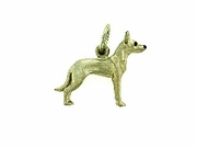 Ibizan Hound C391W Short haired/Rhodium E&N (WG)
