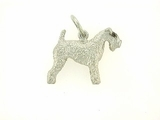 Kerry Blue Terrier C224W/Rhodium E&N (WG)