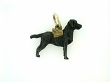 Labrador Black C177Y Field Retriever/Wings/Rhodium