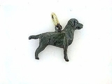 Labrador Black K040Y Field Retriever/Rhodium (18KY)