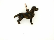 Labrador Chocolate C292R English Retriever/Rhodium Color (RG)