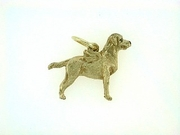 Labrador Yellow C432Y Field Retriever/Wings/Rhodium E&N