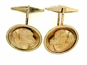 Labrador Yellow C435Y Retriever Head/Disc Cuff Link