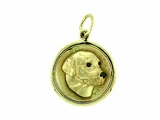 Labrador Yellow C435Y Retriever Head/Disc Rhodium E&N