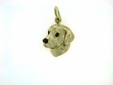 Labrador Yellow C488Y Retriever Head/Rhodium E&N