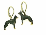 Manchester Terrier ER318Y/Rhodium  LBD Earing
