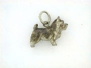 Norwich Terrier C202W/Rhodium (WG)