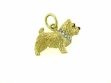 Norwich Terrier C202Y/Rhodium E&N & 9-White D Collar
