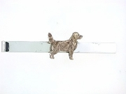 Nova Scotia Duck-Tolling Terrier C535Y/Rhodium Color on Silver Tie Bar