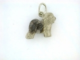 Old English Sheepdog C86W/Rhodium (WG)