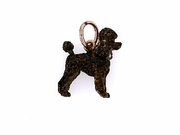 Poodle C247R Puppy Cut/Rhodium Color & 5-Pearls (RG)