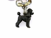 Poodle C247W Puppy Cut/Rhodium Black & 7-White D Collar & Black D Eyes (WG)