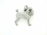 Poodle P082 Summer Cut/Rhodium Nose/7-White D Collar & Black D Eyes (platinum)