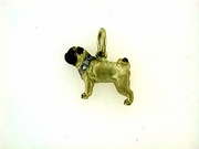 Pug C345Y/Rhodium & 9-White D Collar