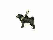 Pug C345Y/Rhodium Black & 9-White D Collar