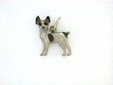 Rat Terrier C199W/Rhodium (WG)