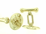 Round Paw C162BY/Dog Bone Cuff Link